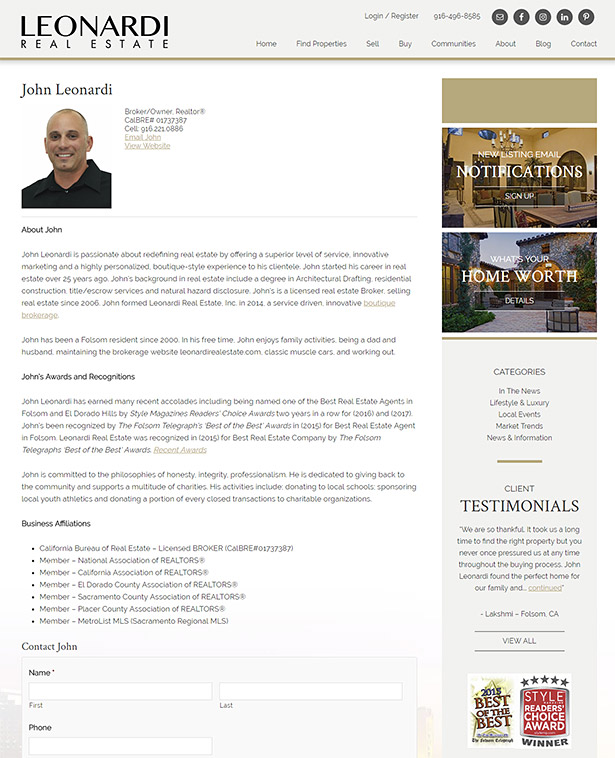 Real Estate Agent Biography, Writing a Real Estate Agent Bio Real