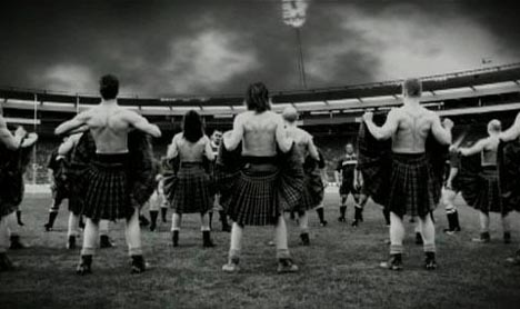Scots response to haka in William Lawson's TV Ad