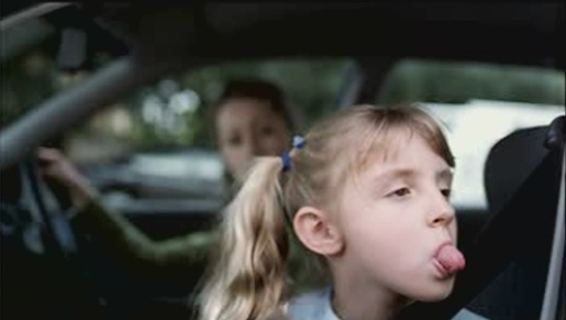 Girl pokes her tongue out in Inghams Chicken TV Ad