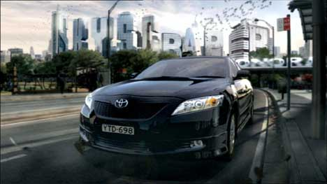 Toyota Camry in TV ad