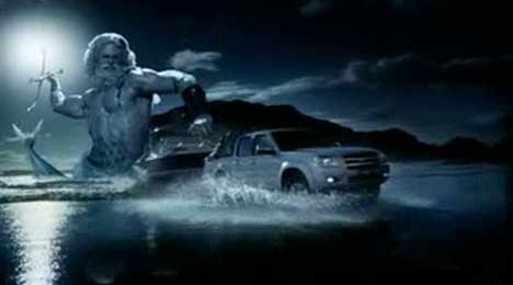 Neptune pursues the driver of a Ford Ranger