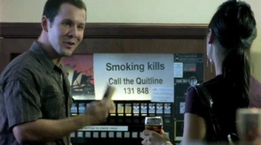 Smoker chooses smokes in Cancer Institute NSW TV ad