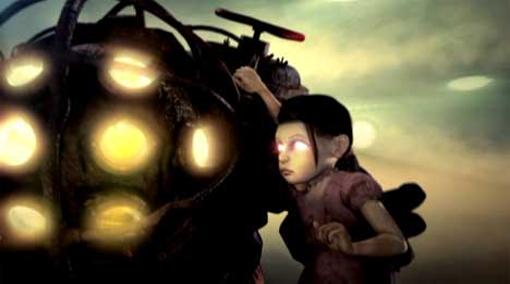 Little sister and big daddy in Bioshock TV ad