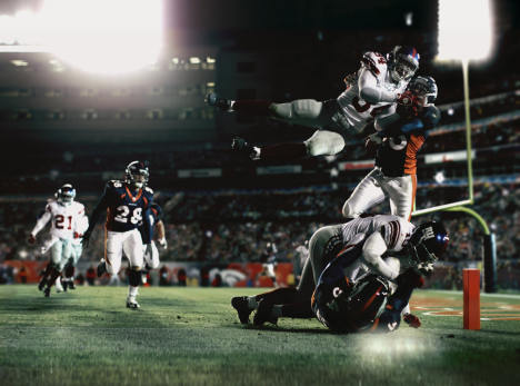 NFL players in Canon Journey ad