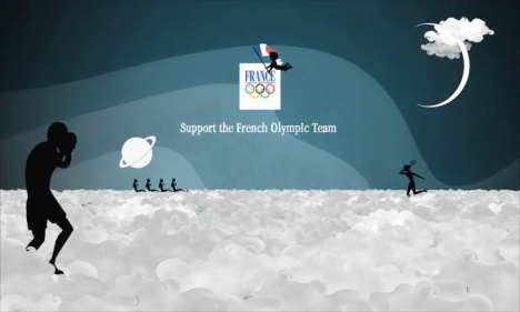 French Olympics athletes in the clouds