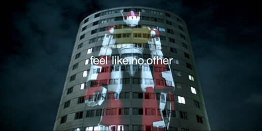 Sony Vaio Robot in Projections TV ad
