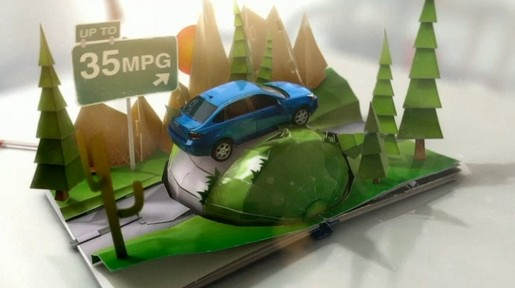 Ford Focus Pop Up commercial