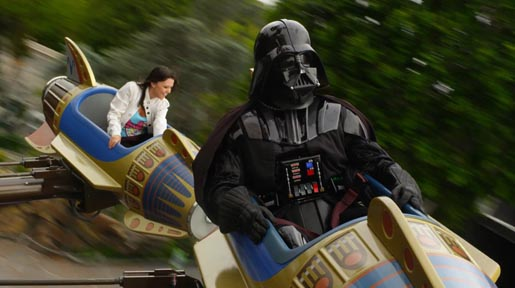 Darth Vader Disney ride