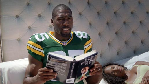Greg Jennings in Old Spice Bed commercial