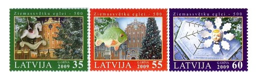 Latvia Christmas Stamps 2009