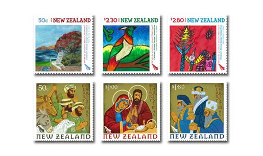 New Zealand Christmas Stamps 2009