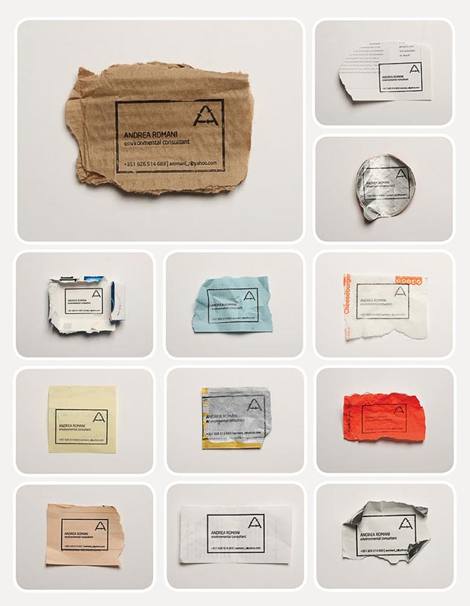 Ecological Business Cards