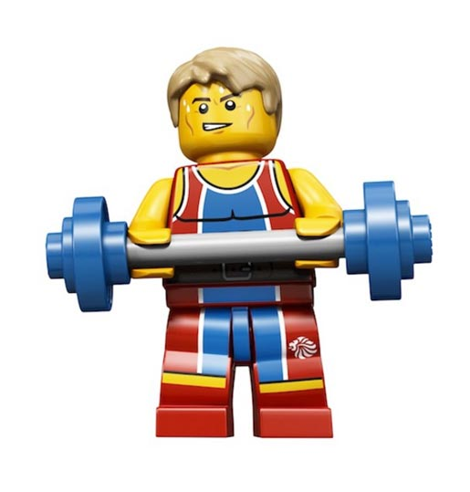Lego Olympics Wondrous Weightlifter Minifigure