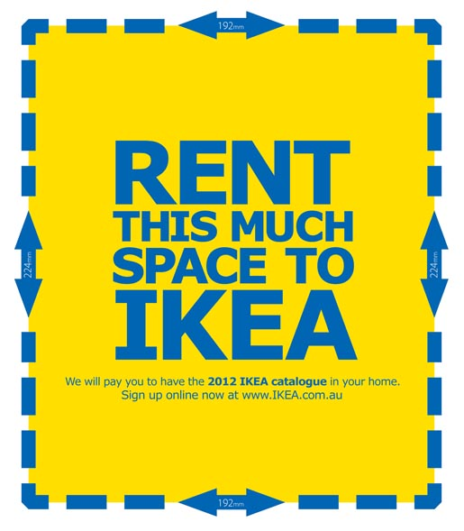 IKEA Rent This Much Space