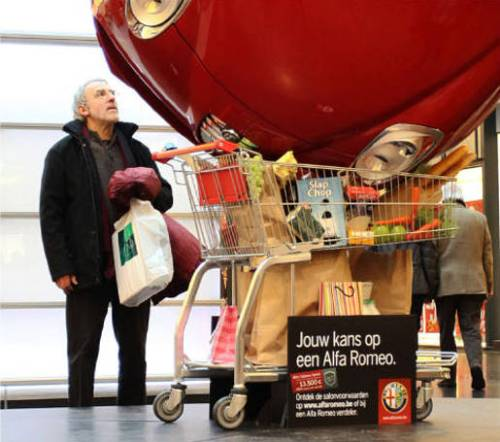 Alfa Romeo in Shopping Cart