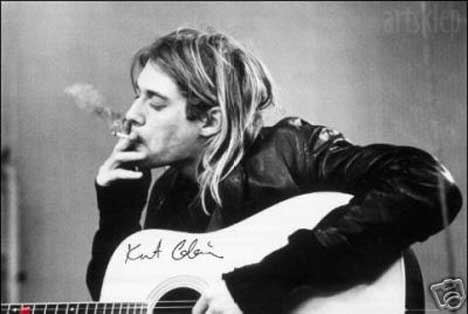 Kurt Cobain smoking