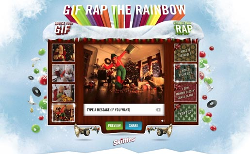 Skittles Gif Rap the Rainbow