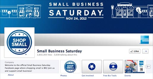Small Business Saturday Facebook page