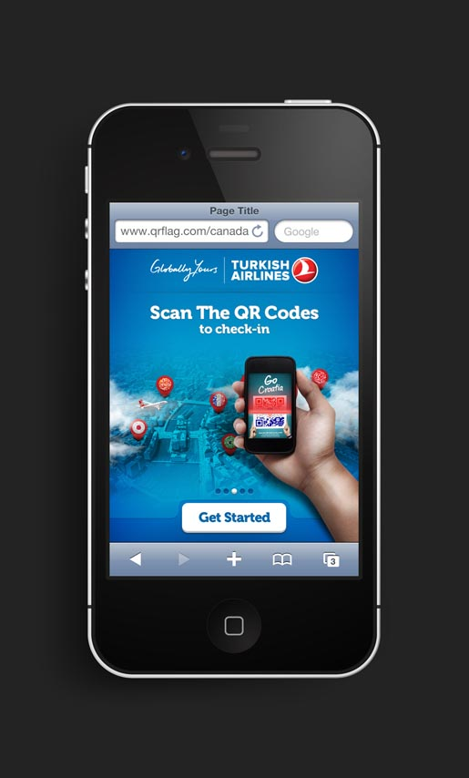 Turkish Airlines QR Flags Mobile