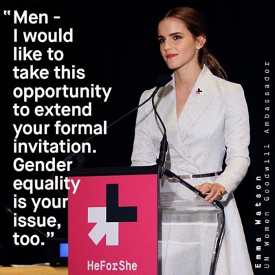 Emma Watson launches He For She movement - The Inspiration Room