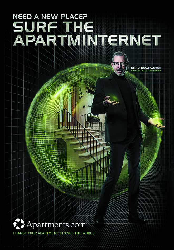 Jeff Goldblum in Apartments.com campaign - Search The Apartminternet