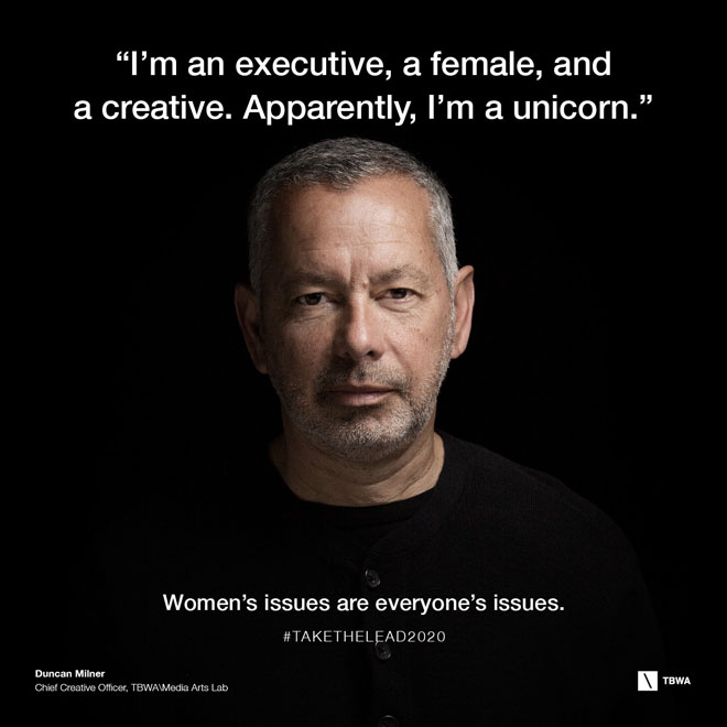 TBWA Take The Lead on Gender Equality in the workplace - Duncan Milner