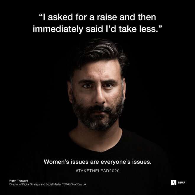 TBWA Take The Lead on Gender Equality in the workplace - Rohit Thwani