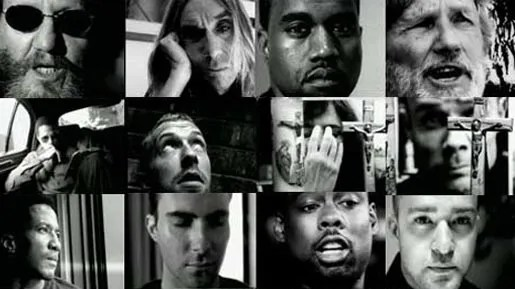 Faces in Johnny Cash God's Gonna Cut You Down music video