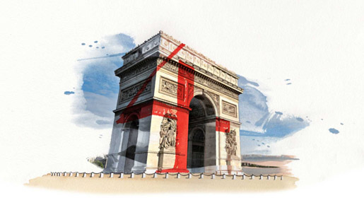 Beyonce Arc de Triumphe Water Colours in 4 Around the World video
