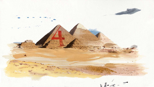 Beyonce Pyramids Water Colours in 4 Around the World video