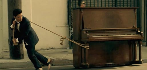 Bruno Mars and Piano in Grenade music video