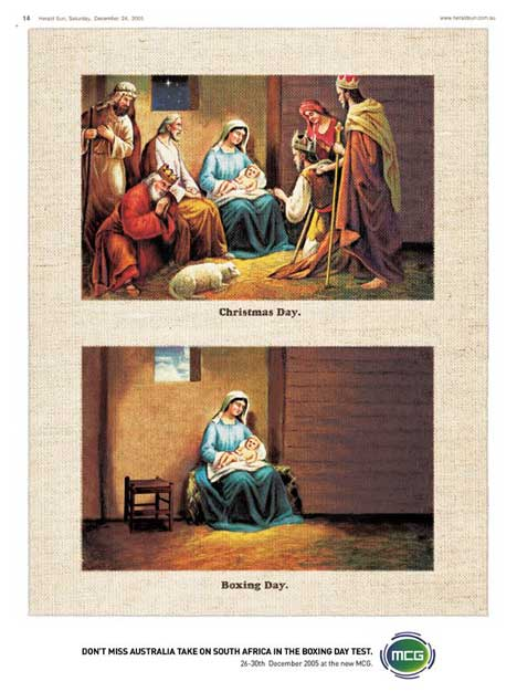 Christmas Day followed by Boxing Day - Mary left alone with Jesus
