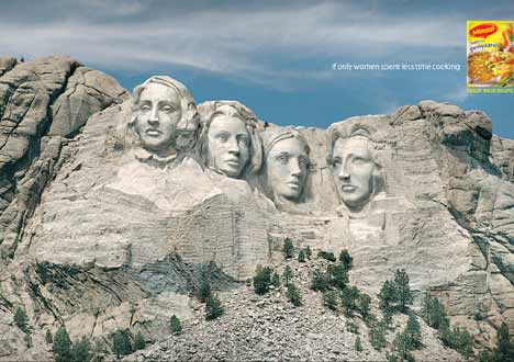 Women presidents on Mt Rushmore