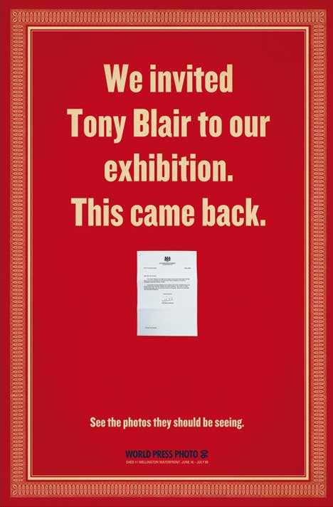 Letter from Tony Blair declining invitation