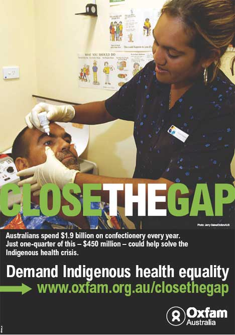 The cost of confectionery in Close The Gap poster