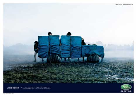 Rugby Tackle Pads make a Land Rover