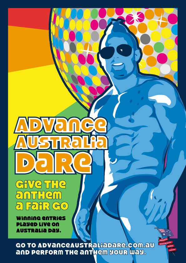 Advance Australia Dare Disco Dancer in Speedos