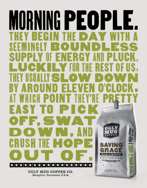 Morning People in Ugly Mug Coffee poster