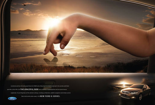 Ford G Series Fingers in Sunset print advertisement