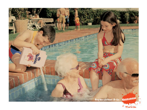 Bubble bath added to spa in Nickelodeon print ad