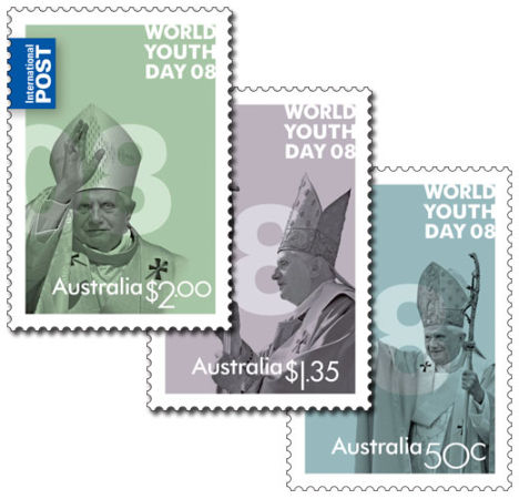 World Youth Day postage stamps in Australia