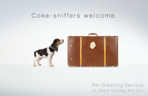 Beagle in Pet Blessing print advertisement