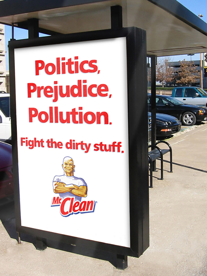 Mr Clean Dirty Wall advertisement