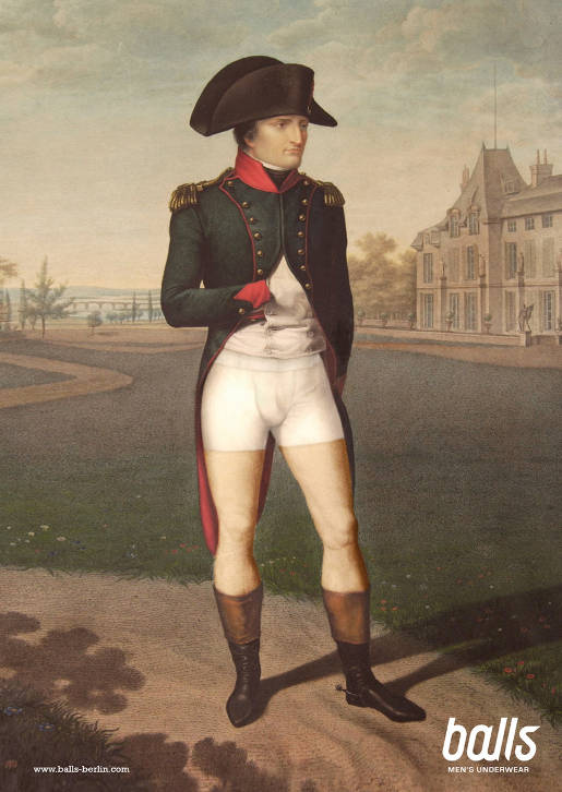 Napoleon Bonaparte with Balls Underwear