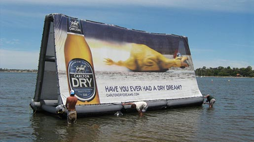 Carlton Dry Race Swan River billboard