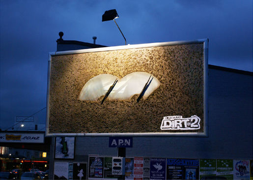 Colin McRae Dirt 2 Billboard with Windscreen Wipers