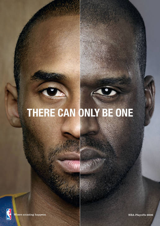 NBA Kobe and Shaq in There Can Only Be One advertisement