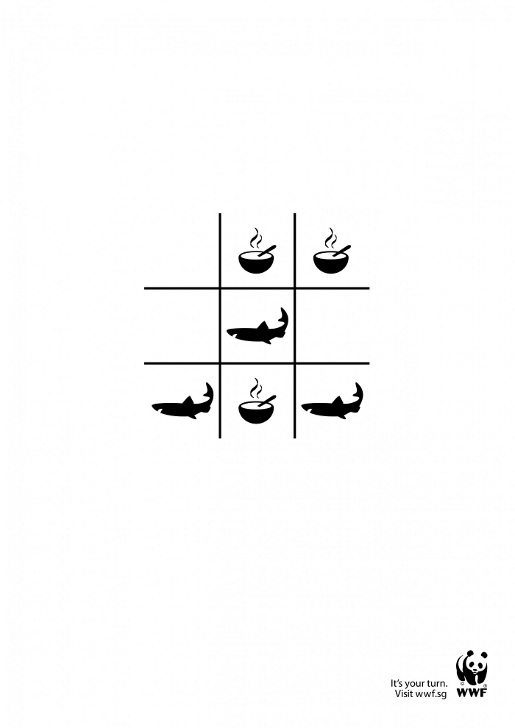 WWFTic Tac Toe game with Shark