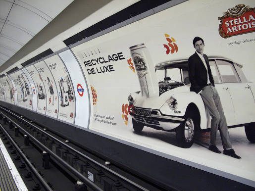 Stella Artois Recyclage de Luxe Aluminium advertisement
