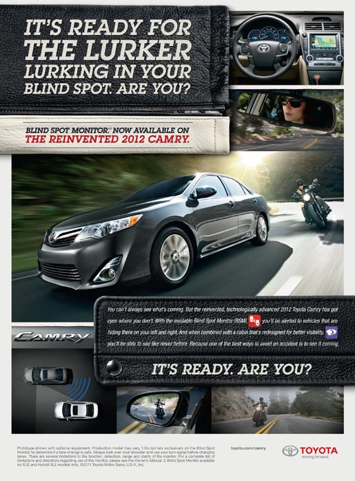 Toyota Camry Safety print ad